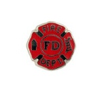 Fire Department Badge - Enamel Charm